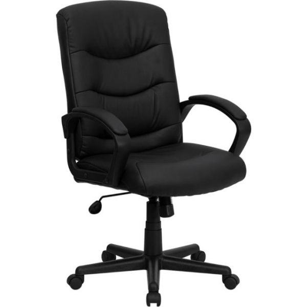 Flash Furniture Mid-Back Leather Office Chair