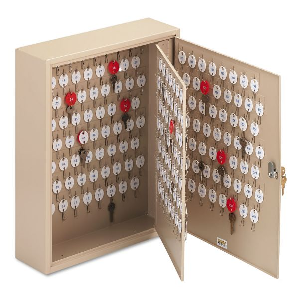 SteelMaster Locking Two-Tag Cabinet, 240-Key, Welded Steel, Sand, 16 1/2 x 4 7/8 x 20 1/8
