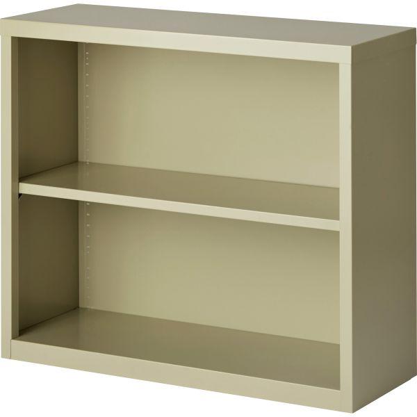 Lorell Fortress Series 2-Shelf Steel Bookcase