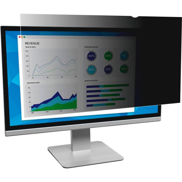 "3M Blackout Frameless Privacy Filter for 21.5"" Widescreen LCD Monitor, 16:9"