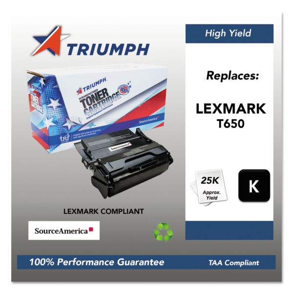 SKILCRAFT Remanufactured Lexmark T650H11A Black Toner Cartridge