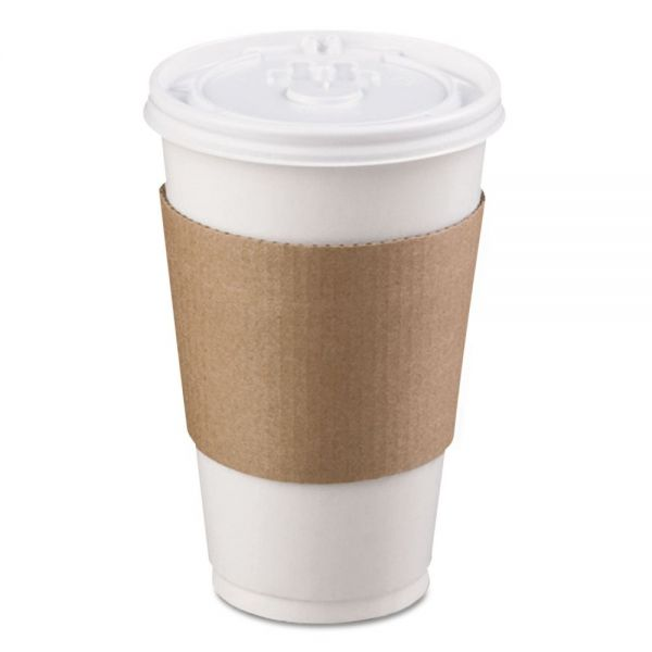 LBP Coffee Clutch Hot Cup Sleeve, Brown, 1200/Carton