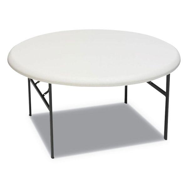 Iceberg IndestrucTables Too 1200 Series Resin Folding Table, 60 dia x 29h, Platinum