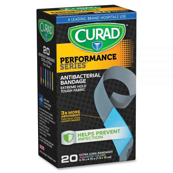 Curad Extra Long Antibacterial Bandages