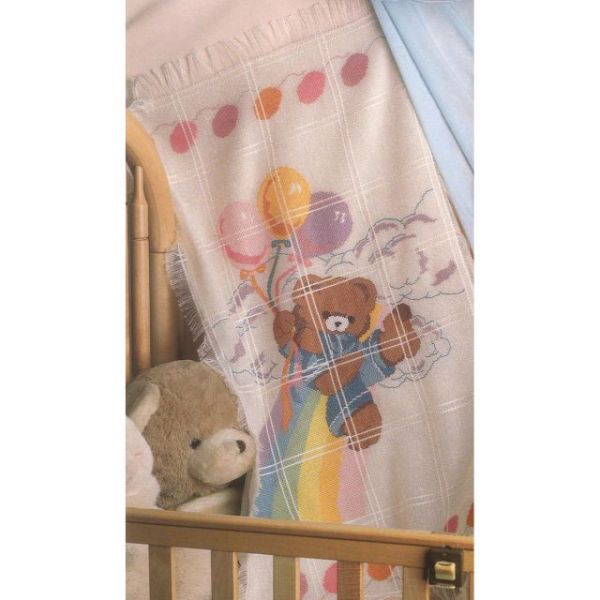 Bear & Balloons Baby Afghan Counted Cross Stitch Kit