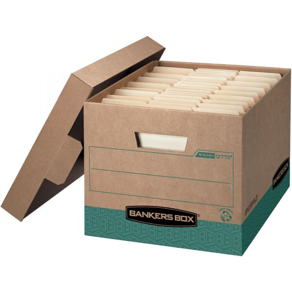 Bankers Box R-Kive Heavy-Duty Storage Boxes With Lift-Off Lids