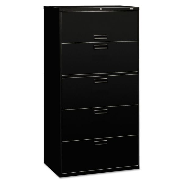 HON Brigade 500 Series 5-Drawer Lateral File Cabinet
