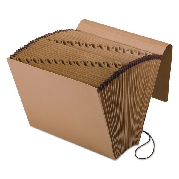 Pendaflex Kraft Indexed Expanding File, 31 Pockets, Kraft, Letter, Brown