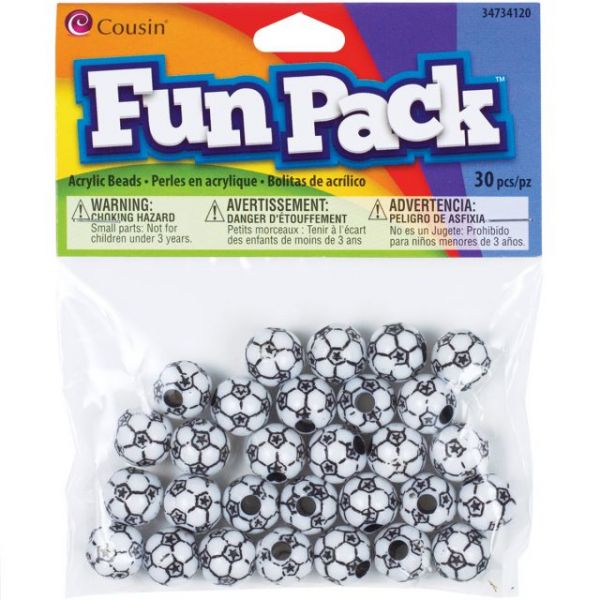 Cousin Fun Pack Acrylic Sports Beads