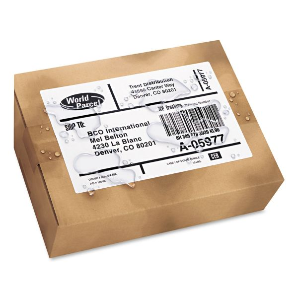 Avery WeatherProof Shipping Labels w/TrueBlock, Laser, White, 5 1/2 x 8 1/2, 100/Pack