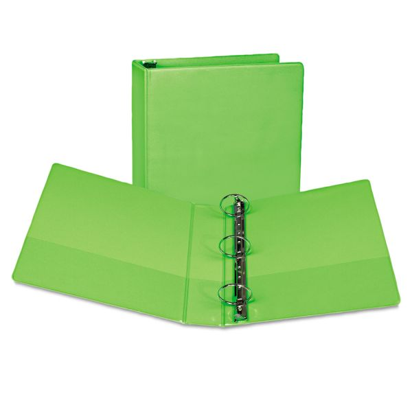 """Samsill Fashion 3-Ring View Binder, 2"""" Capacity, Round Ring, Lime, 2/Pack"""