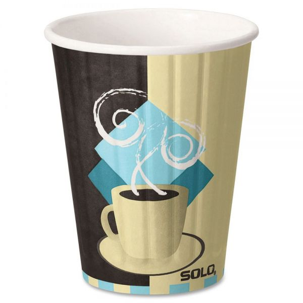 SOLO 12 oz Paper Cups With Lids Combo Pack