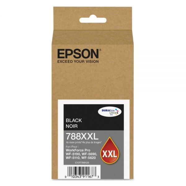 Epson 788 XXL Super High-Yield Black Ink Cartridge (T788XXL120)