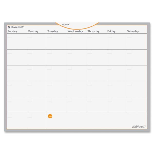 AT-A-GLANCE WallMates Self-Adhesive Dry Erase Wall Planner