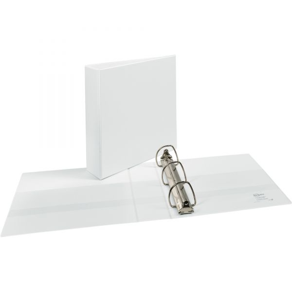 "Avery Durable 3-Ring View Binder w/Nonlocking EZD Rings, 2"" Capacity, White"