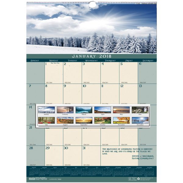 House of Doolittle Landscapes Monthly Wall Calendar
