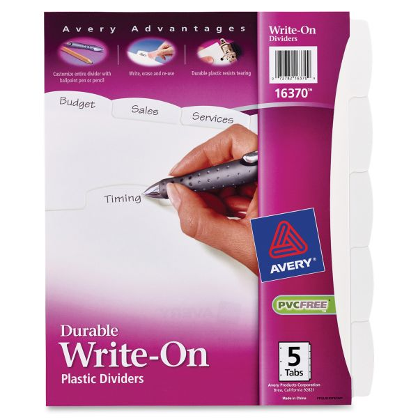 Avery Write & Erase Big Tab Index Dividers