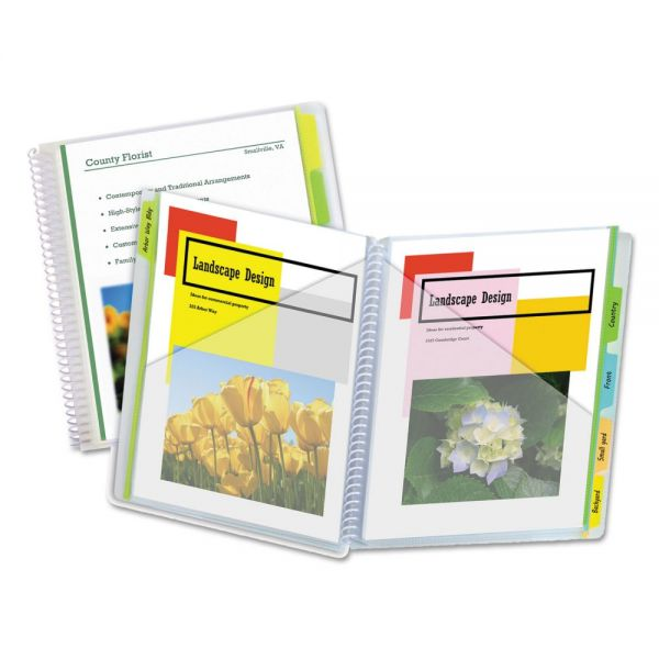 C-Line 10-Pocket Poly Portfolio with Write-On Tabs