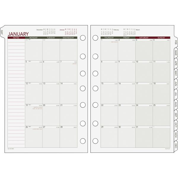 Express Recycled Monthly Planning Pages