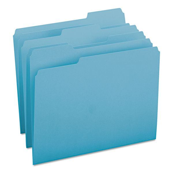 Smead Teal Colored File Folders