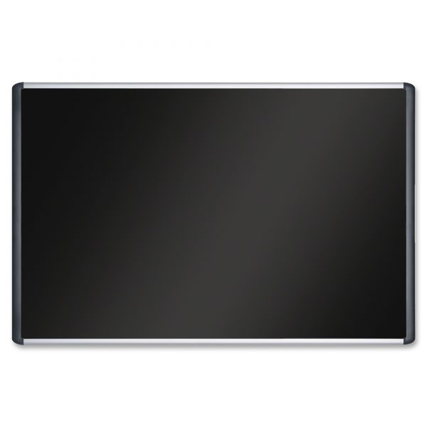 MasterVision Black Fabric Bulletin Board