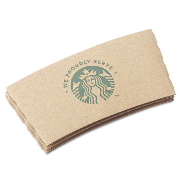 Starbucks Cup Sleeves, For 12/16/20 oz Hot Cups, Kraft, 1380/Carton