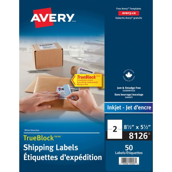 Avery 8126 Internet Shipping Labels