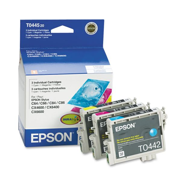Epson T0445 Color Combo Pack Ink Cartridges