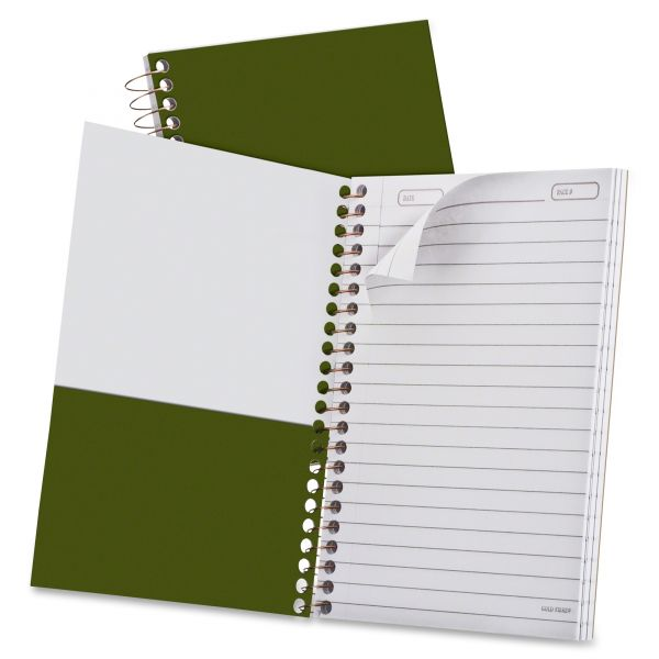 Ampad Gold Fibre Personal Notebook, College/Medium, 7 x 5, Classic Green, 100 Sheets
