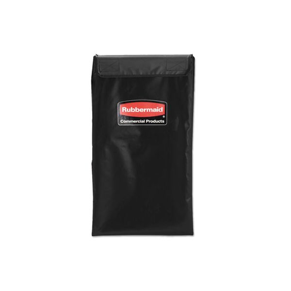 Rubbermaid Commercial Collapsible X-Cart Replacement Bag, 4 Bushel, 220 Lbs, Vinyl, Black