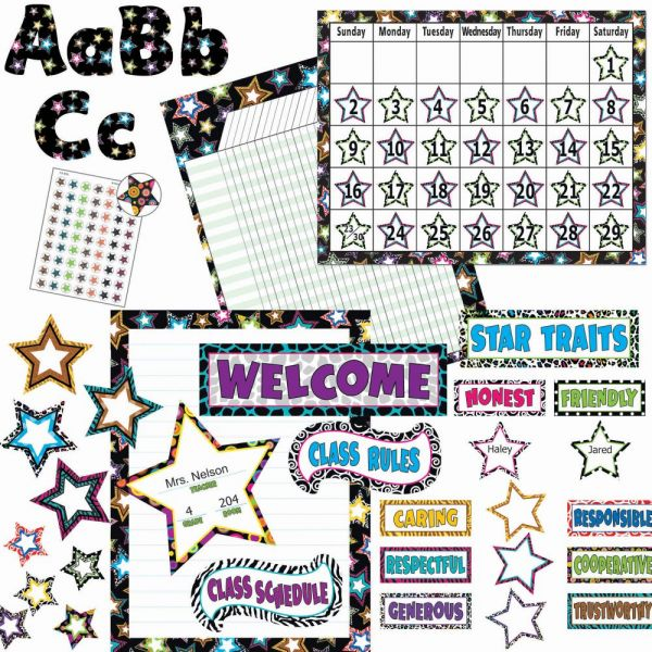 Teacher Created Resources Fancy Stars Accents Board Set