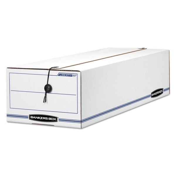Bankers Box Liberty Check & Form Medium-Duty String & Button Storage Boxes