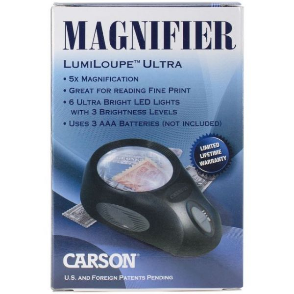 "LumiLoupe Ultra LED Lighted Magnifier 5.5""X3.6""X1.4"""