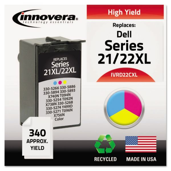 Innovera Remanufactured Dell Series 21/22XL High-Yield Ink Cartridge