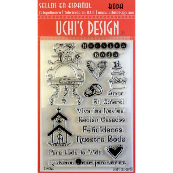 "Uchi's Design Spanish Clear Stamp Set 4""X6"" Sheet"