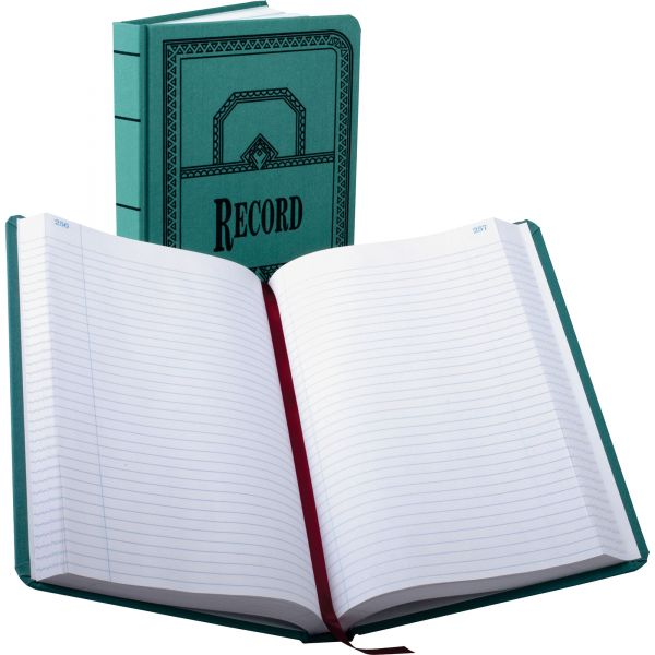 Boorum & Pease Record/Account Book, Record Rule, Blue, 500 Pages, 12 1/8 x 7 5/8