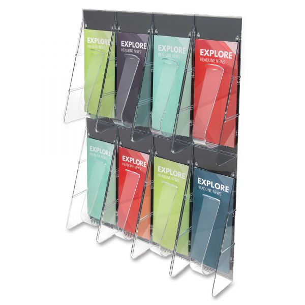 deflecto 8-Pocket Pamphlet Wall Rack