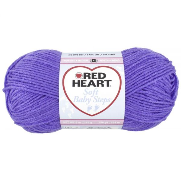 Red Heart Soft Baby Steps Yarn - Light Grape