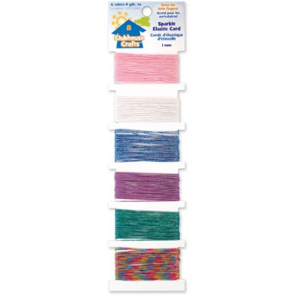Clubhouse Crafts Sparkle Elastic Cord