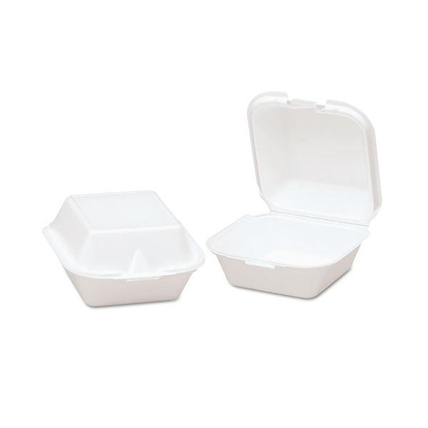 Genpak Snap-It Takeout Foam Clamshell Sandwich Containers
