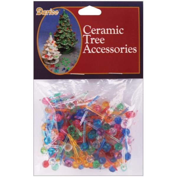 "Ceramic Christmas Tree Bulbs .25"" 250/Pkg"