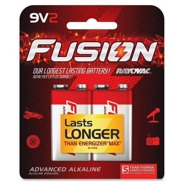 Rayovac Fusion Alkaline 9V Batteries