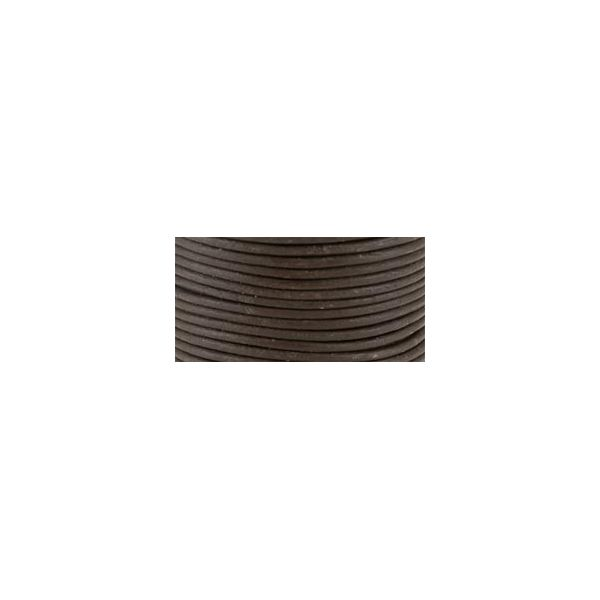 Round Leather Lace 2mmX25yd Spool