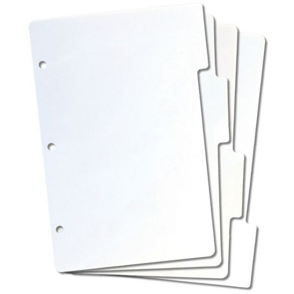 Tabbed Mini Rubber Stamp Storage Panels 4/Pkg