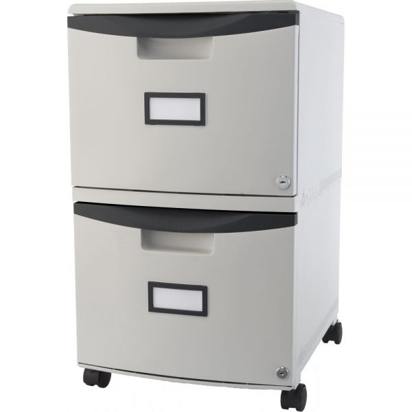 Storex 2-Drawer Mobile Filing Cabinet with Lock