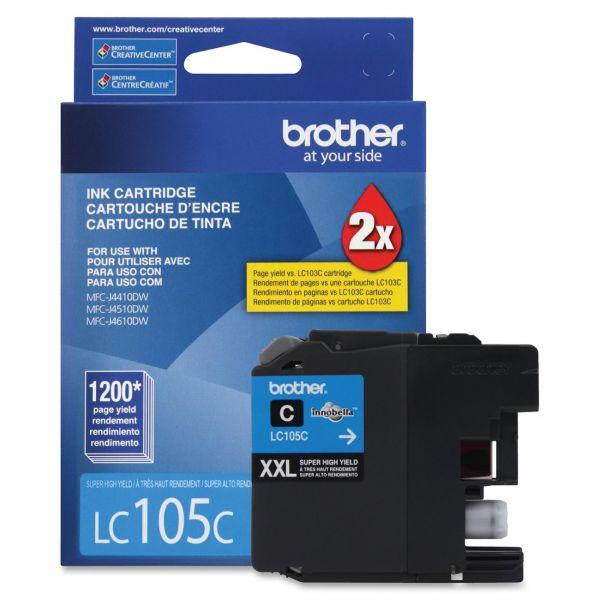 Brother LC105C Cyan Super High Yield Ink Cartridge