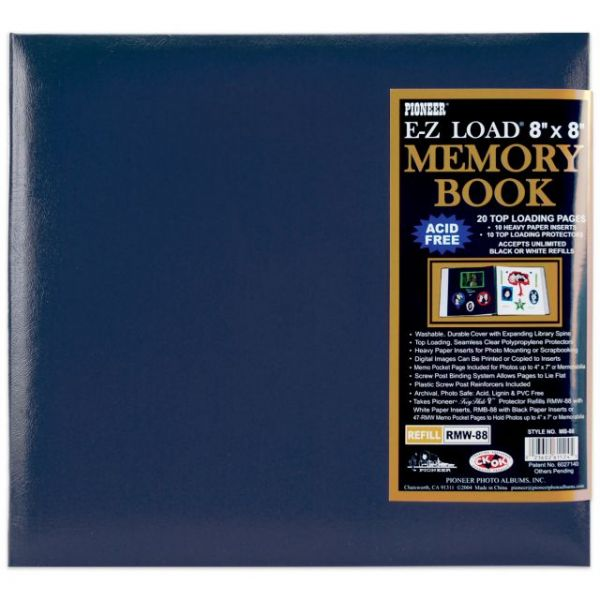 "Leatherette Post Bound Album 8""X8"""