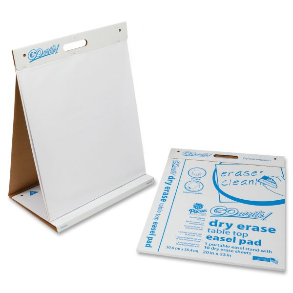 Pacon GoWrite! Dry Erase Table Top Easel Pad, 20 x 23, 4 10 Sheet Pads/Carton