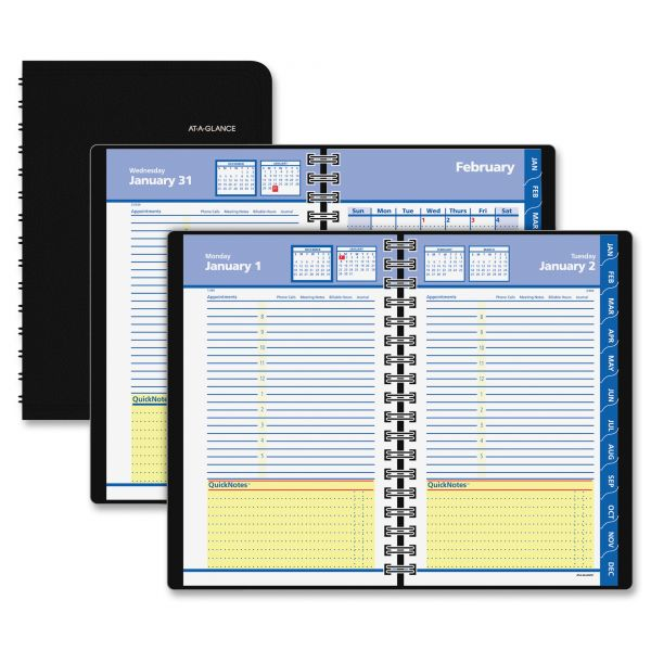 At-A-Glance QuickNotes Daily/Monthly Appointment Book