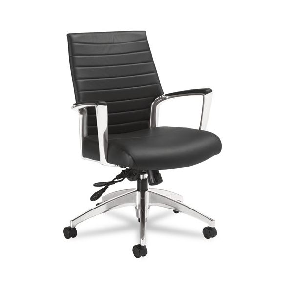 Global Accord Series Mid-Back Leather Office Chair